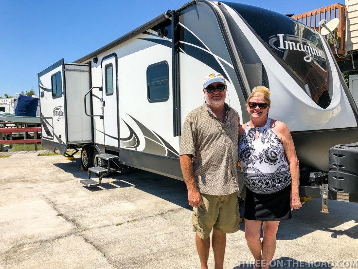 Charles & Vic Wright, new owners of RV, Chokoloskee